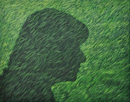 Lucienne Olieverf op doek Formaat: 30 x 24 cm in privécollectie