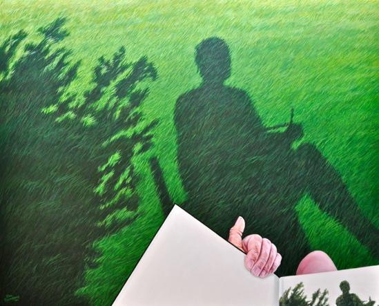 Zelfportret - Taulignan Olieverf op doek Formaat: 80 x 100 cm